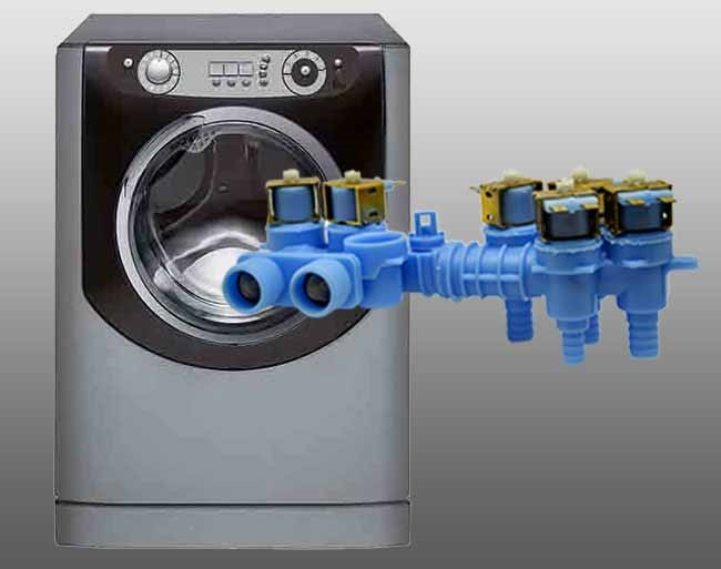 Washer with product