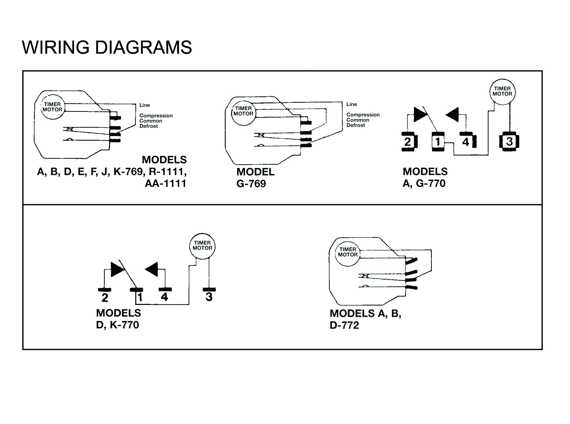 robertshaw products a769 00 Time Clock Wiring Schematics paragon defrost timer wiring diagrams