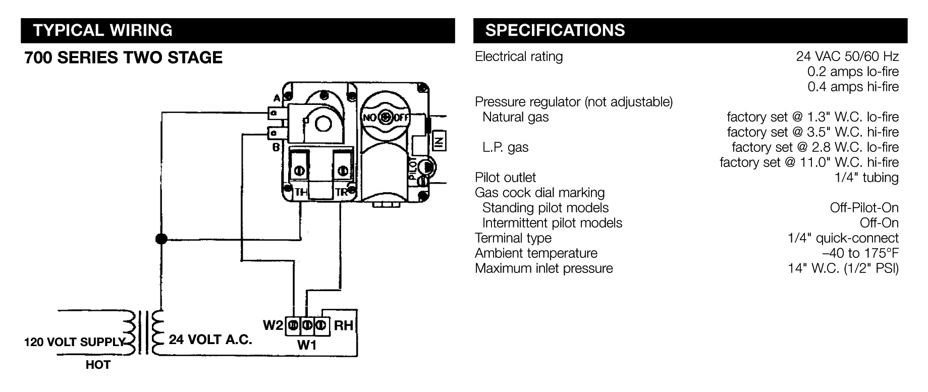 Gas Valve Relay Wiring Diagram Guide And Troubleshooting Of Heater With Thermostat On White Rodgers Hvac Fan Honeywell Information Fireplace