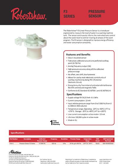 F301C F3 Series F3_01C02 Water Level Pressure Switch for Washing Machine 1
