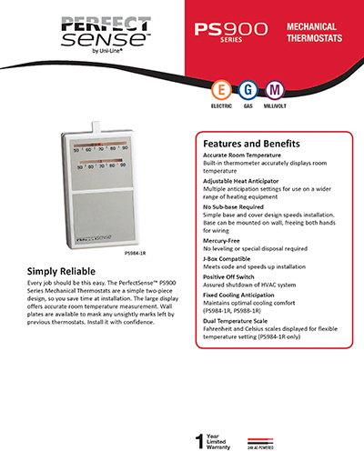 robertshaw products ps988 1r rh robertshaw com White Rodgers Thermostat Operating Manuals Trane Thermostat Manual